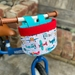 Bike & Scooter HandleBar Basket | Clip on |  Planes + Red Blue