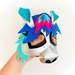 Blue Unicorn Mask Costume Accessory | Animal Kids 3D Mask