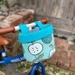 Bike & Scooter HandleBar Basket | Clip on |  Apples + Blue