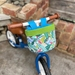 Bike & Scooter HandleBar Basket | Clip on | Jungle Sloths + Blue