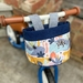Bike & Scooter HandleBar Basket | Clip on | Safari Animals + Navy