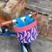 Bike & Scooter HandleBar Basket | Clip on | Parrot + Pink/Blue