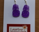 Purple tiki earrings