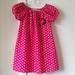 Pink Polka-dot Peasant Dress