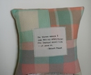 Upcycled Wool Cushion with Quote