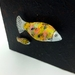 Textile Fish on Canvas Wallhanging
