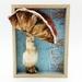 Mushroom - Framed Textile Wall Art Sculpture - NZ Made