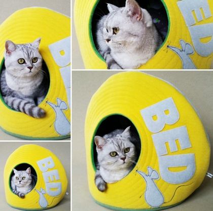 Cat Bed - Yellow - NZ Made