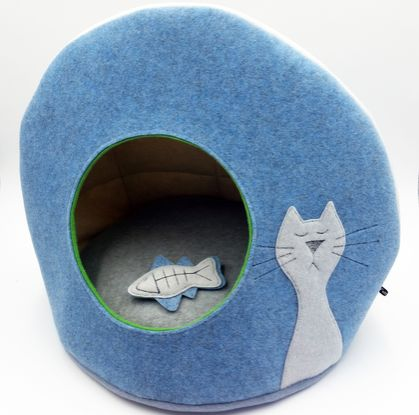 Eco CAT BED with FREE Cat Toy - NZ Made