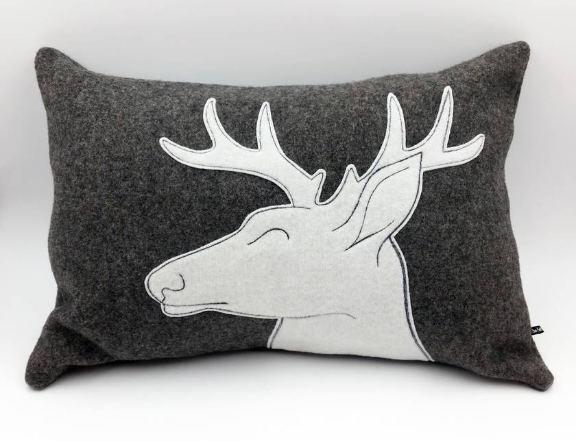 Stag Cushion - NZWool - NZ Made