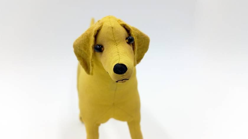 Labrador Dog Original Textile Art Scupture