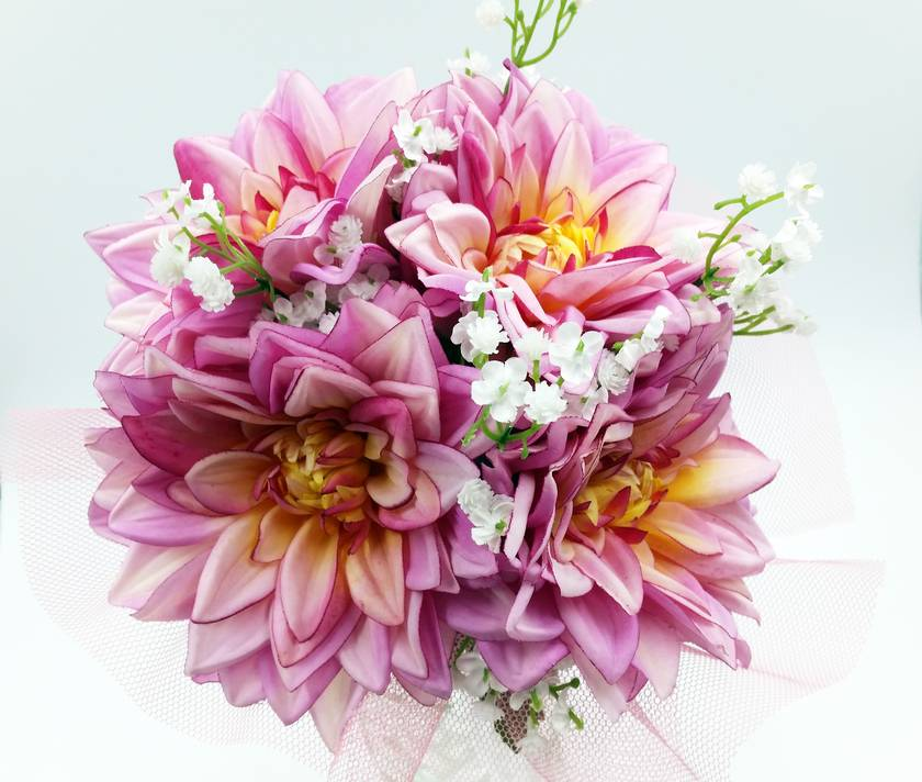 Floral Bouquet - Pink Dahlia