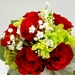 Floral Bouquet - Red, White & Green