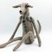 Linen Greyhound Dog - Texile Art Sculpture