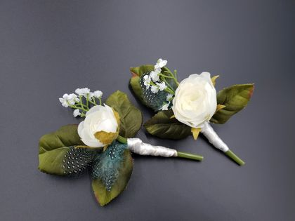 Wedding buttonholes - Set of 2 - NZ Made