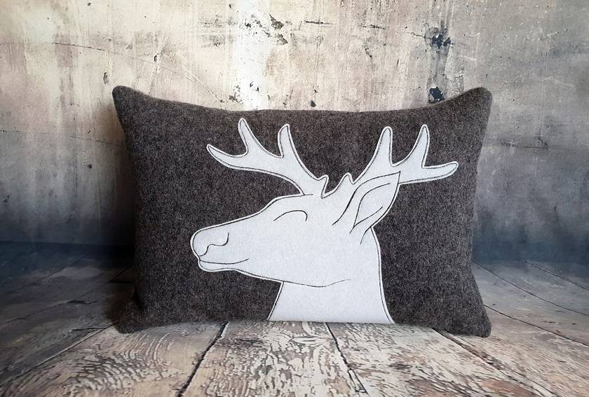 Stag Cushion - NZ Wool - NZ Made