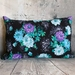 Floral Cotton and Velvet Cushion