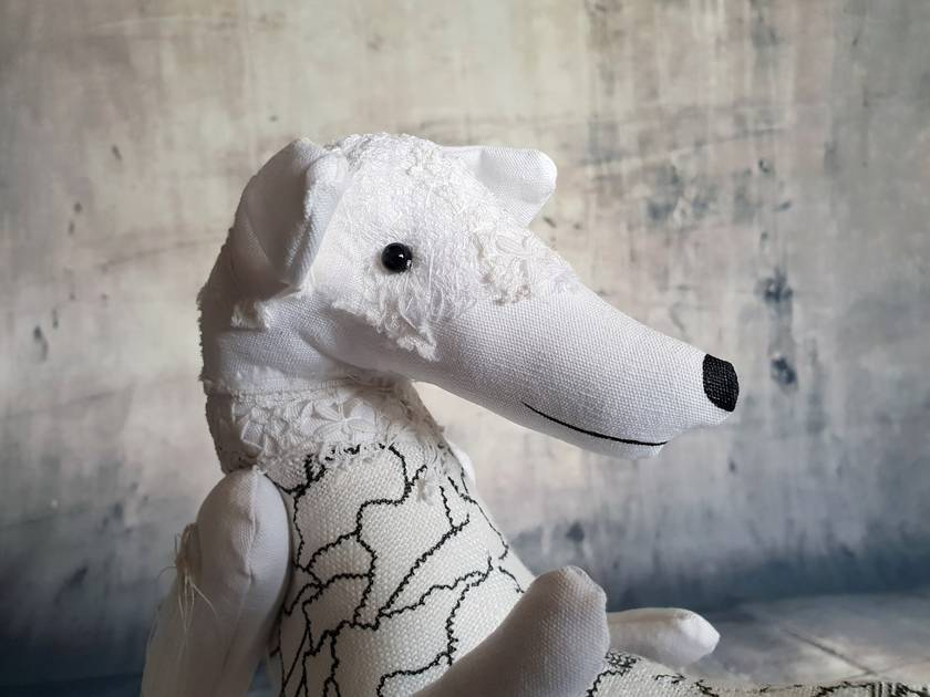 Greyhound - Textile Art - NZ Made