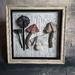 Mushrooms - Framed Textile Art - NZ Made - Sale