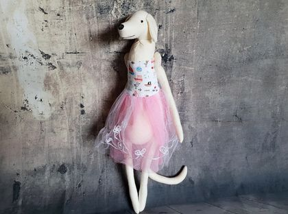 Greyhound Dog Doll