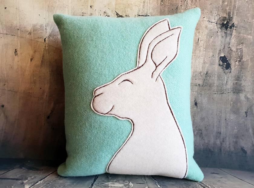Rabbit Cushion - NZ Wool - NZ Made