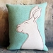 Rabbit Cushion - NZ Wool - NZ Made