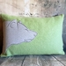 Bear Cushion - NZWool & Linen - NZ Made - Sale