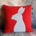 Rabbit Cushion - NZ Wool & Linen