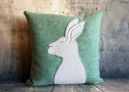 Rabbit Cushion - NZ Wool - Sale
