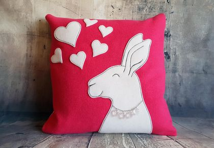 Rabbit Cushion - NZ Wool - Special