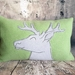 Deer Cushion - NZWool & Linen - NZ Made - Sale