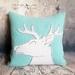 Stag Cushion - NZWool & Linen - NZ Made