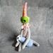 Green Bear and Dog - Fibre Art Sculpture - NZ Made