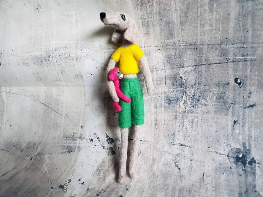 Dog Wall Art Sculpture Nz Made Felt