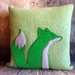 Fox Cushion - NZ made - SALE