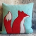 Fox Cushion - NZ made