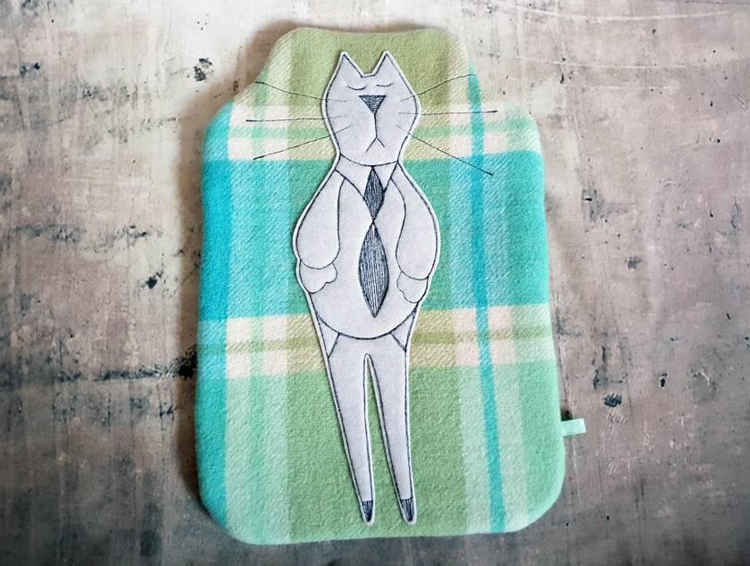 Cat Hottie Cover - NZWool - NZ Made