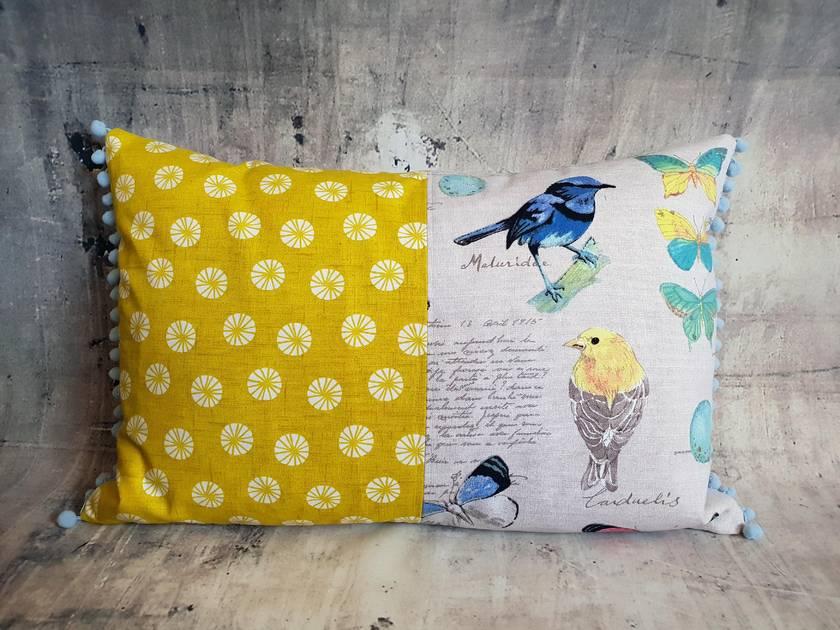 Cushion - Birds and Butterflies