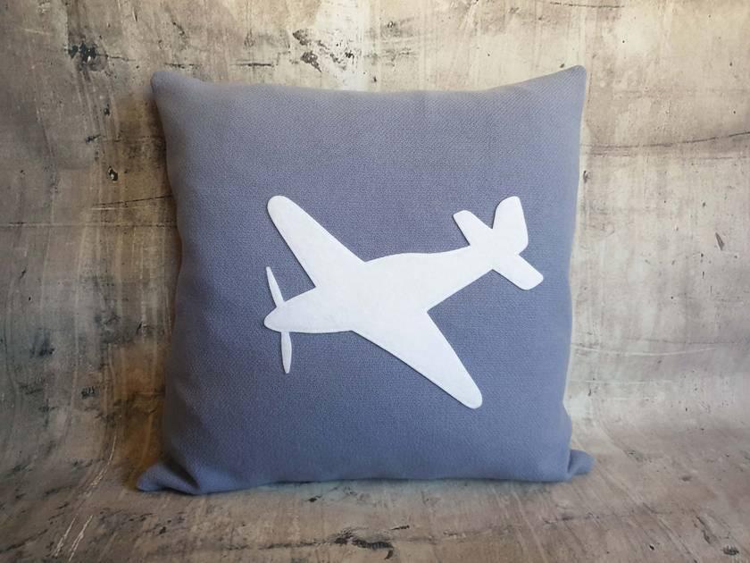 Eco Friendly Plane Cushion - NZ wool