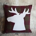 Deer / Stag Cushion - NZ Wool - NZ Made