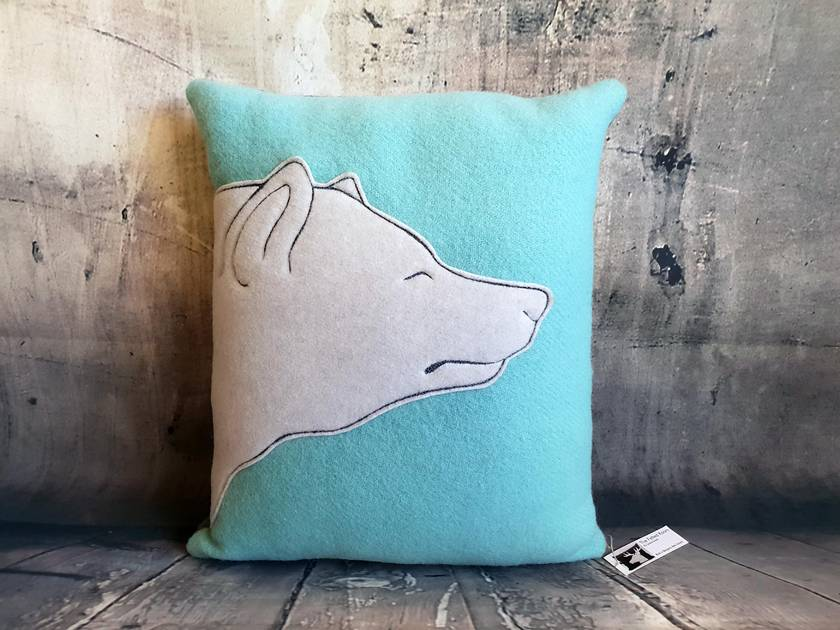 Polar Bear Cushion - NZ made