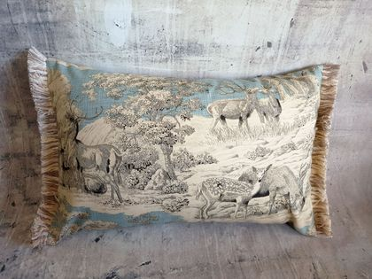 Wild Deer / Stag Cushion - NZ made