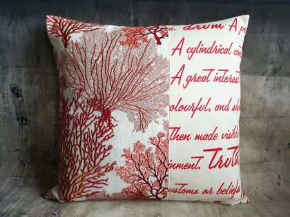 Cushion in Red - NZ made