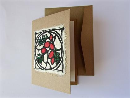 Miro Original Woodcut Greeting Card