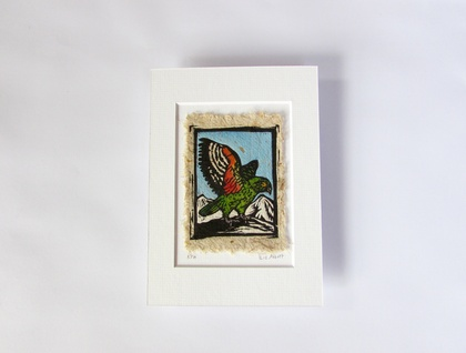 Original Handcoloured Woodcut