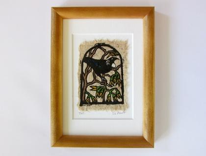 Original Handcoloured Woodcut
