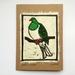 Kererū Original Woodcut Greeting Card