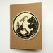 Toroa Original Woodcut Greeting Card