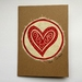Aroha Original Woodcut Greeting Card
