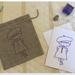 Linen giftbag card - Violet Beret